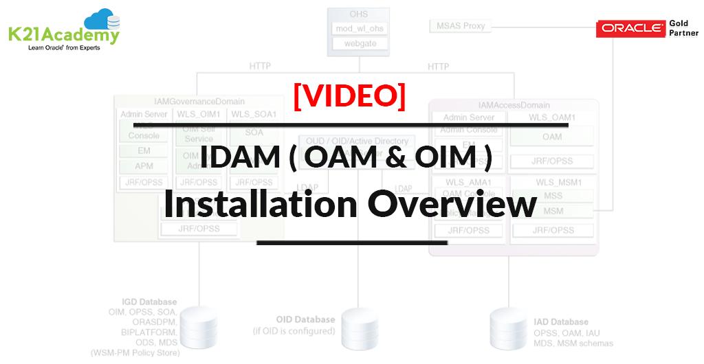VLOG] IDAM ( OAM & OIM ) Installation Highlevel Overview