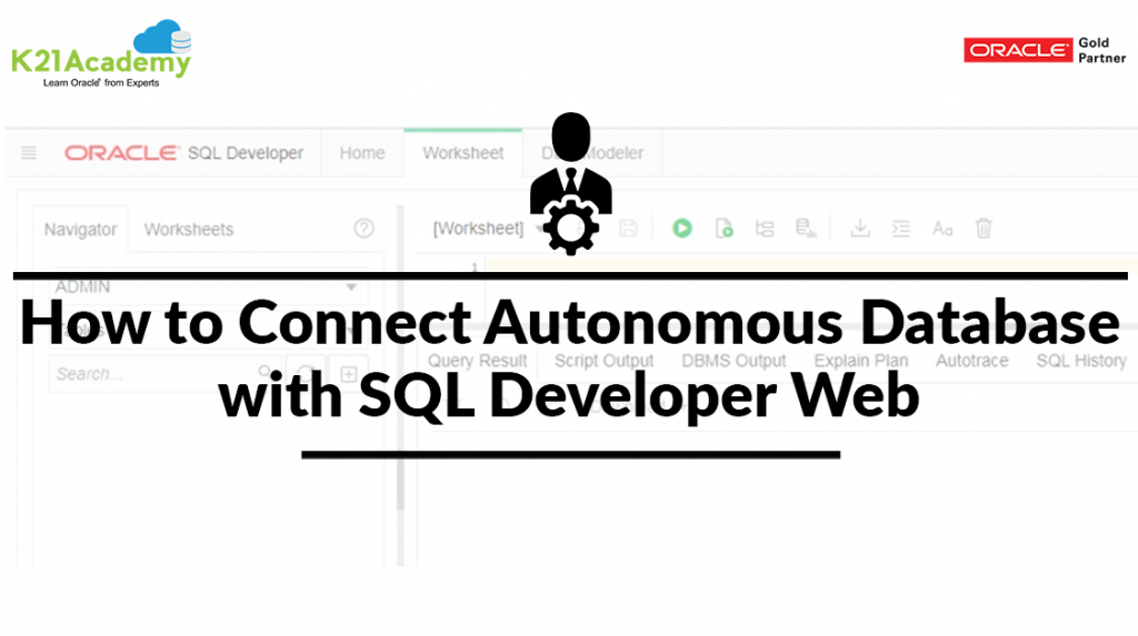 Connect SQL Developer Web