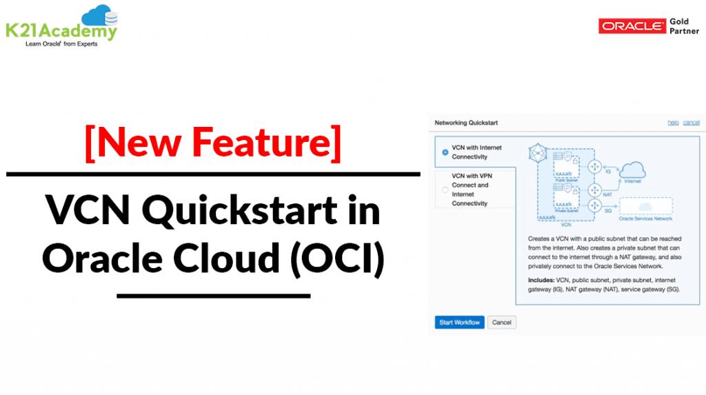 Virtual Networking (VCN) Quickstart