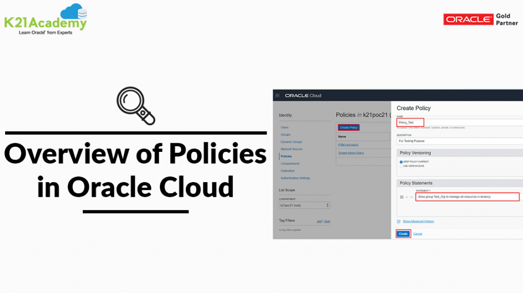 policies in oracle cloud