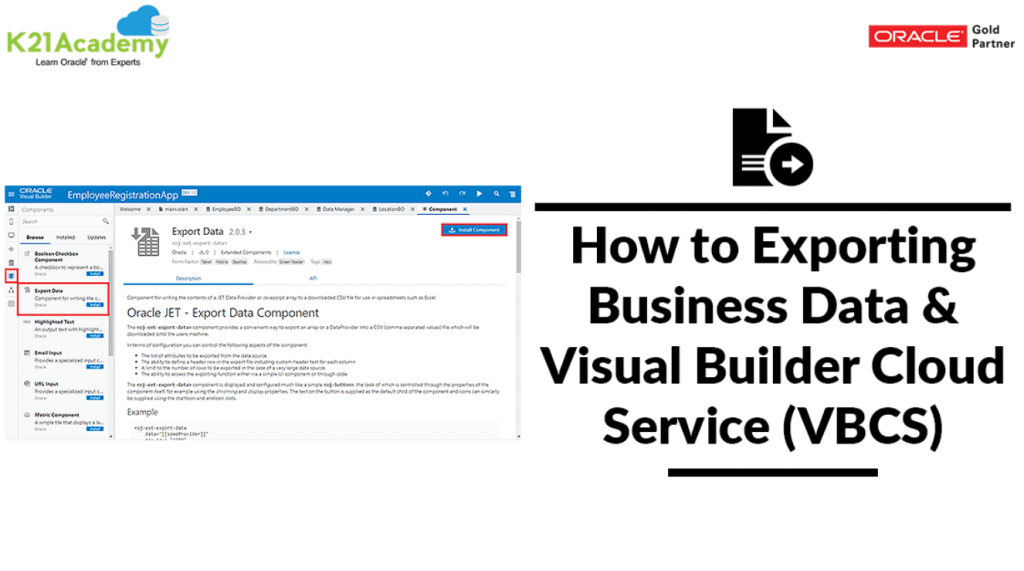 isual Builder Cloud Service (VBCS)
