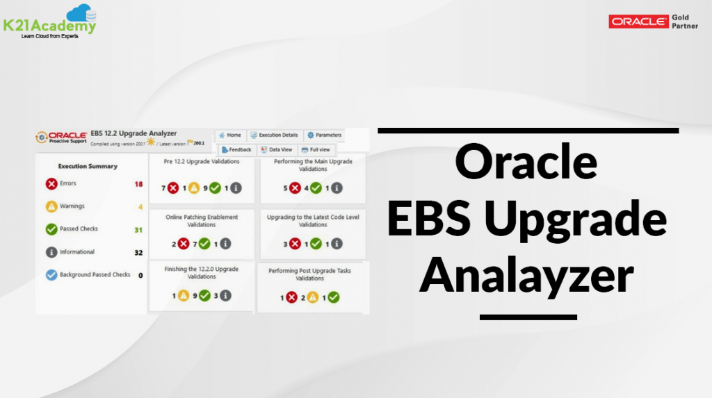 EBS upgrade Analyzer