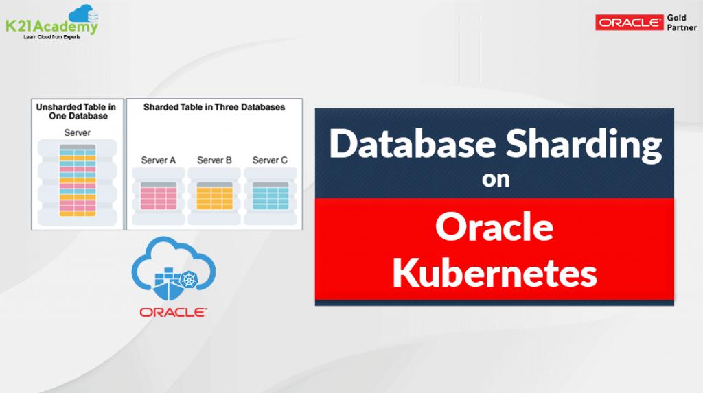Database sharding in oracle kubernetes