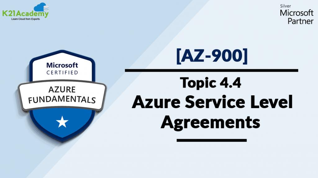 Azure Service level Agreements