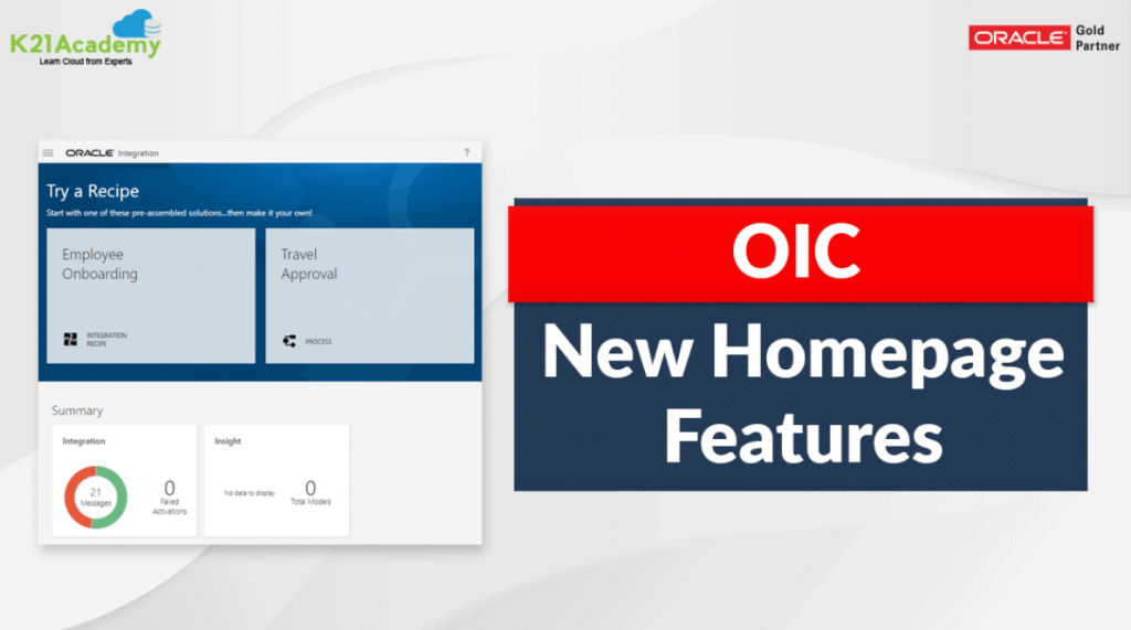 Oracle Integration New Home Page