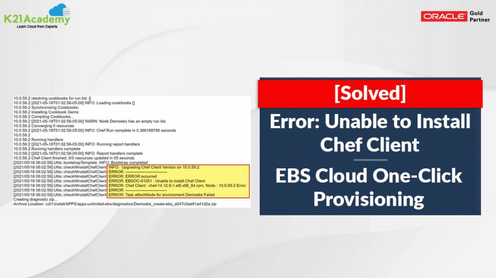 Chef Client Error